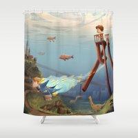 sandman Shower Curtains featuring Sandman by Maxime Lebrun