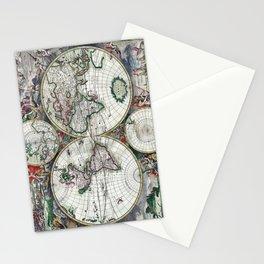 World Map - Nova totius terrarum orbis tabula Amstelodami - 1689 Stationery Cards