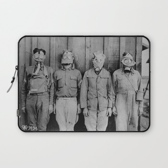 American, British, French, & German Gas Masks Laptop Sleeve
