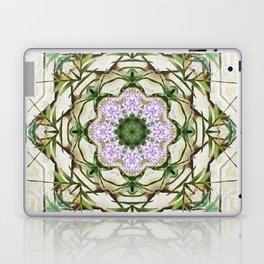 Orchids And Stone Wall Kaleidoscope 1764 Laptop & iPad Skin