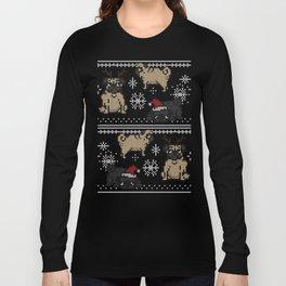 CHRISTMAS PUG Long Sleeve T-shirt