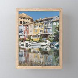 a mess of colors Framed Mini Art Print