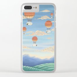 Flying Sheeps Clear iPhone Case