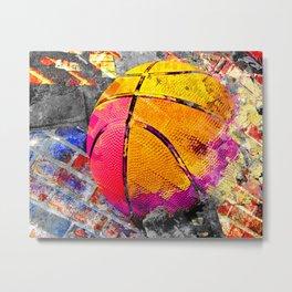 Basketball art swoosh vs 40 Metal Print