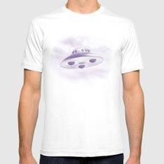 UFO White Mens Fitted Tee MEDIUM