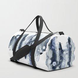 Indigo Abstract Watercolor No.1 Duffle Bag
