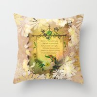 poem Throw Pillows featuring Love Poem by Lucia