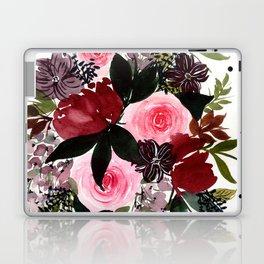 Burgundy Rose Flower Bouquet Laptop & iPad Skin