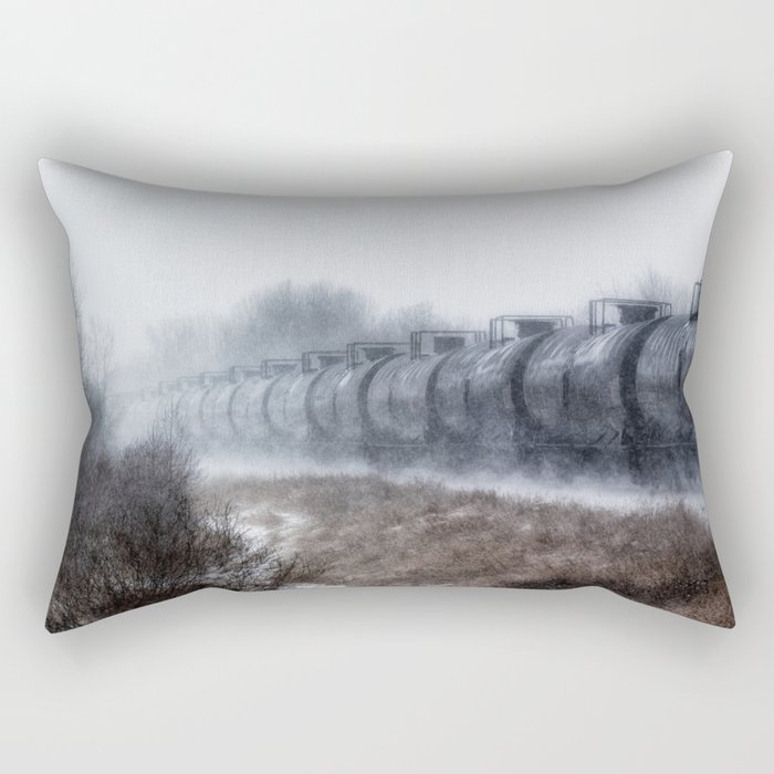 Winter Locomotion Rectangular Pillow
