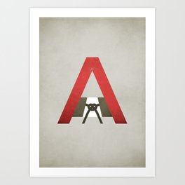 The Scarlet Letter - NO TEXT Art Print