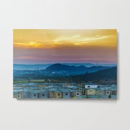 Twiglight Landscape Scene Guayaquil, Ecuador Metal Print