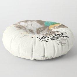 john lenon-imagine Floor Pillow