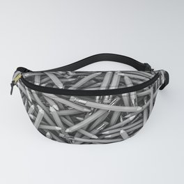 Pencil it in B&W / 3D render of hundreds of pencils in black and white Fanny Pack