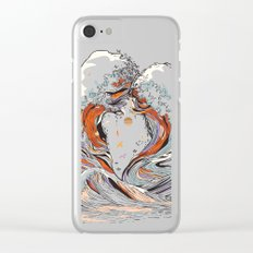 The Wave of Love Clear iPhone Case