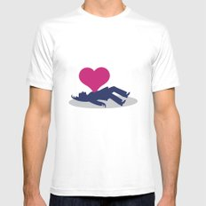Deadly Love White MEDIUM Mens Fitted Tee