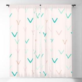 Blush and Mint Minimalism Arrows Blackout Curtain