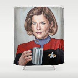 Captain Janeway - Portrait Painting Shower Curtain