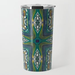 Celtic Cross - Abstract Art by Fluid Nature Travel Mug