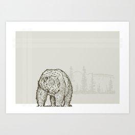 Lodge series - Bear Art Print