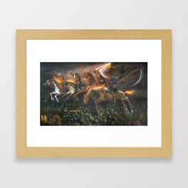 The Four Horsemen  of the Apocalypse (illustration from my painting manual Fantastic Realism) Framed Art Print