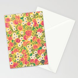 Minnie (Painted Flower Pattern) Stationery Cards
