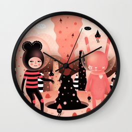 The magical mountain we shared - Muxxi X Paul Pierrot Wall Clock