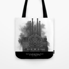 HexArchi - Spain, Barcelona, Basilica and Expiatory Church of the Holy Family Tote Bag