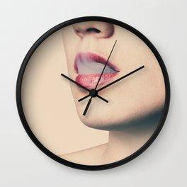 Lips & Smoke Wall Clock