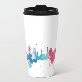 Dubai Cityscape Watercolor Travel Mug