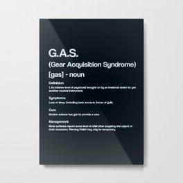 Hobbies GUITAR GAS Metal Print