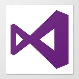 visual studio logo sticker C# Canvas Print