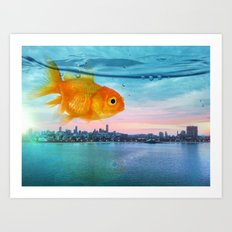 Tank with a view Art Print