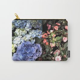 Hydrangeas and Impatiens Carry-All Pouch