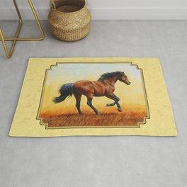 Running Bay Horse Rug