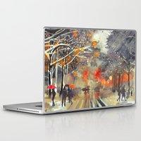 takmaj Laptop & iPad Skins featuring WINTER IN THE CITY by takmaj