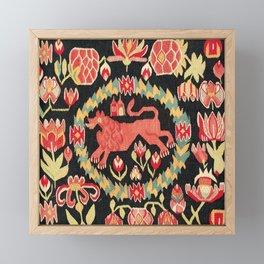 Agedyna Swedish Skåne Province Carriage Cushion Print Framed Mini Art Print
