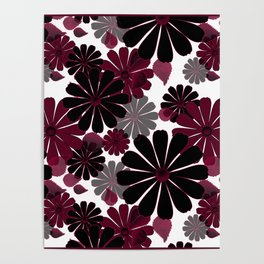 Abstract floral pattern .5 Poster