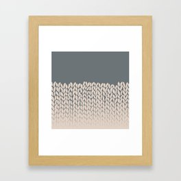 Half Knit Ombre Nat Framed Art Print