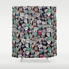 Gemstone Owls Shower Curtain
