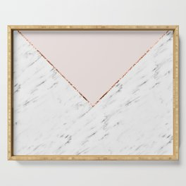 Peony blush geometric marble Serving Tray