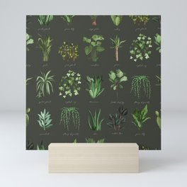 A collection for plant lovers garden seamless pattern Mini Art Print