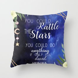 Rattle the stars with roses Throw Pillow
