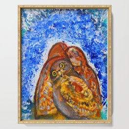 Winter's Nest #society6   #decor #buy art Serving Tray