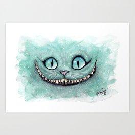 Cheshire Cat - Drawing - Dibujados Art Print