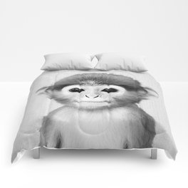 Baby Monkey - Black & White Comforters