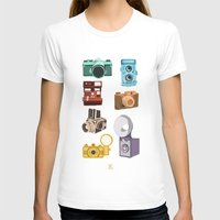 cameras T-shirts featuring Retro Cameras by Polito