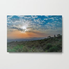 Colorful sunrise on Italian Apennine Mountains Metal Print