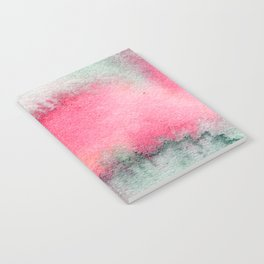 Blue and Pink Marble Watercolor Notebook