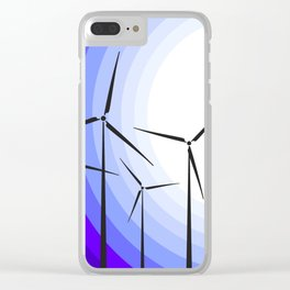 Windmills - Moonrise Clear iPhone Case