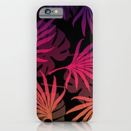 Plam Leaves Monstera pink violet iPhone Case